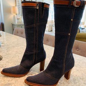 Donald J Pliner Jean Boots Size 8